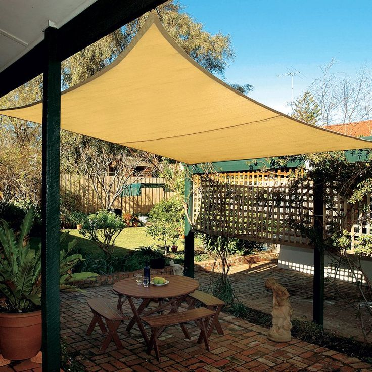 Coolaroo Coolhaven 12 ft. Square Shade Sail Heritage Green