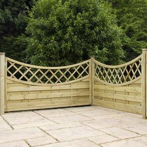 3ft x 6ft Pressure Treated Bari Wooden Fence Panels - Fence Supermarket
