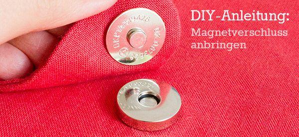 Mini-DIY: Magnetverschluss anbringen | Kreativlabor Berlin