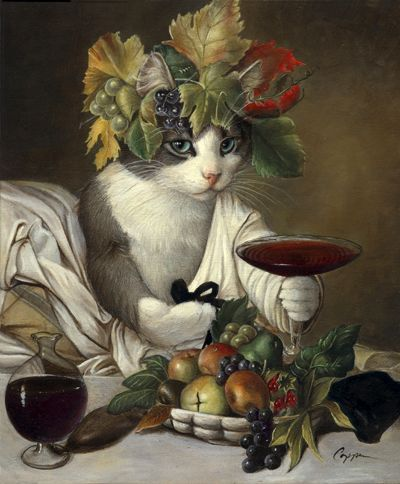 'Widget as Bacchus' by Melinda Copper.    (Based on an original painting 'Bacchus' by Caravaggio.)