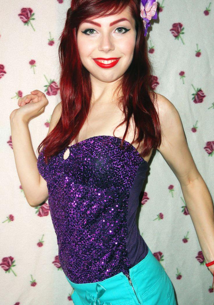 little mermaid :)  #makeup #style #beauty #ariel #mermaid #pinup #vintage