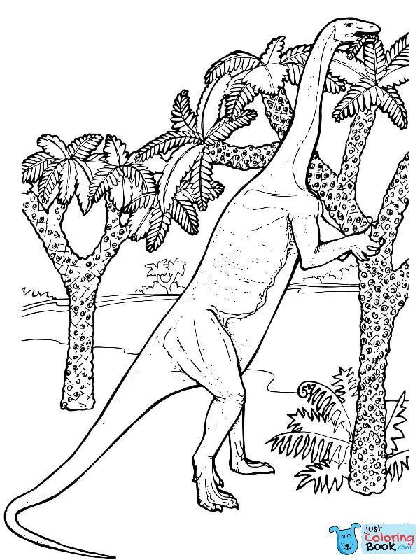 Massospondylus Prosauropod Jurassic Dinosaur Coloring Page