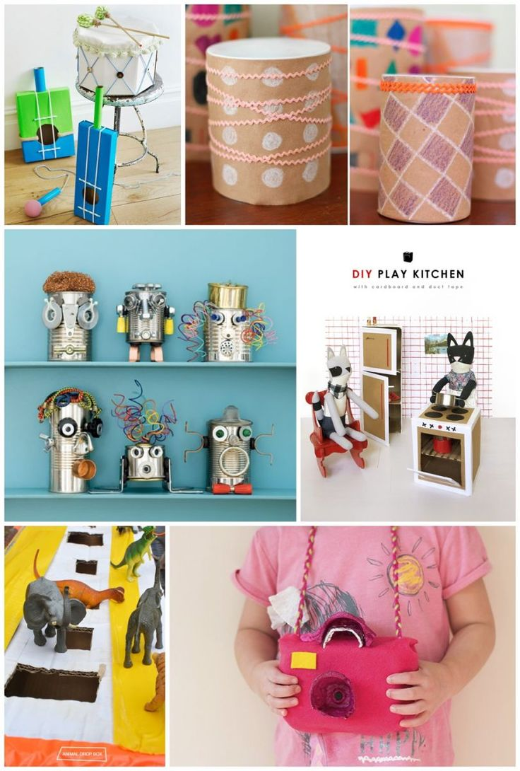 676 best everyday kid crafts images on pinterest toddler for Make project using waste materials
