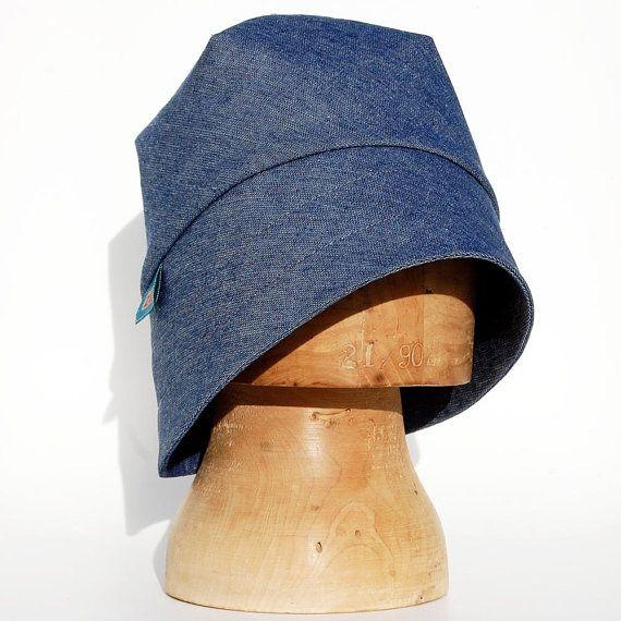 Denim rain hat for women blue cloche hat ©ZUTamelie by ZUThats