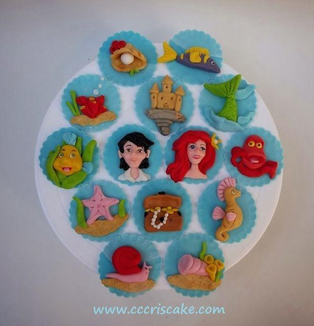 Torturi artistice: Little Mermaid - cupcakes