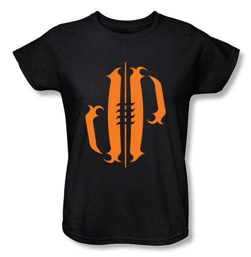 Athlete Originals | Original Designs by Jordan Poyer. Orange Tattoo Football womens t-shirt in black #Cleveland #Browns #NFL #FootballSeason #Tailgate