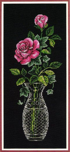 DIMENSION'S Counted Cross Stitch Kit ' Roses in by Lilybeelane, $15.00 flower