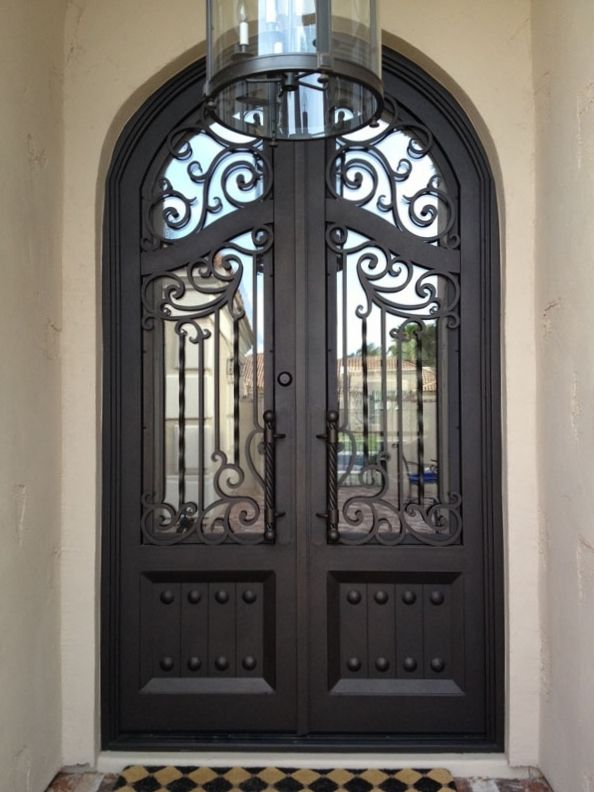 Old World Iron Door 21 With Images Iron Front Door Iron Entry