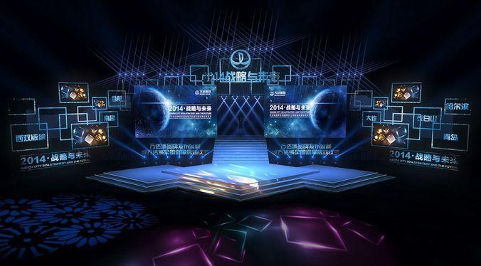 Concert stage design 23 3d model obj 1 stage set for Stage 47 designhotel
