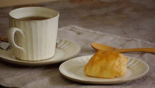 粉引きしのぎパン皿