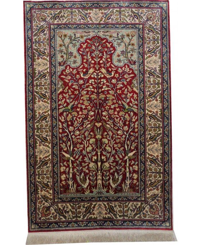 Handmade Turkish Kayseri Original Silk Carpet – …