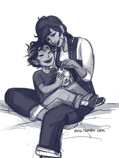 Leo Valdez and his mom by Viria13 I'm going to cry ...