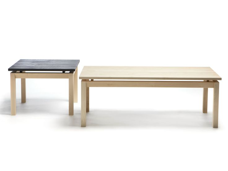 Rectangular wooden coffee table SEMINAR JRP1C-2C by Nikari design Jenni Roininen