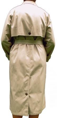A lovely lightweight mens all weather trench coat from Bhs, double breasted, a chest flap, cuff ties, a belt, back buttoned flap, back vent, slightly padded and rounded shoulder with no defined seam, a full lining with excellent finishes, top quality and in mint condition.