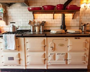 The Aga, and kitchen tiles from Brooklyn in Keith McNally's London home