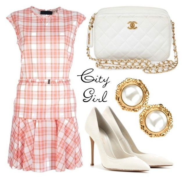City Girl by missloulouxx on Polyvore featuring polyvore, fashion, style, N°21, Gianvito Rossi, Chanel, vintage and clothing