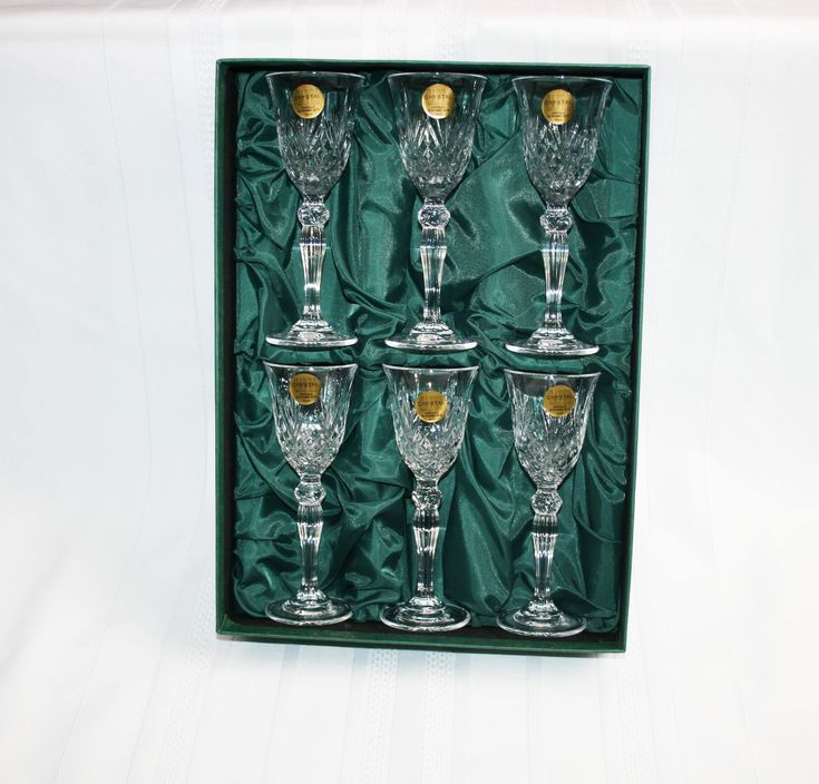 Vintage Royal Crystal Rock 6 Sherry Glasses Overture Pattern From Tuscany RCR 24% Lead Crystal Capri Crystal Sherry glass Bar Barware by KattsCurioCabinet on Etsy