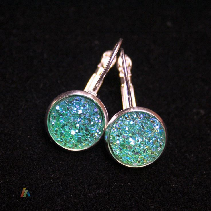 EARRINGS & SPARKLY Resin CABOCHON. You will receive apair of 925 silver earrings - lever back. 925 STERLING SILVER. Lorem ipsum dolor sit amet, consectetur adipiscing elit. Mauris non mi sed metus volutpat molestie. | eBay!