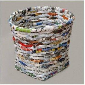 Come creare cesti e cestini con carta di giornale. Video tutorial.