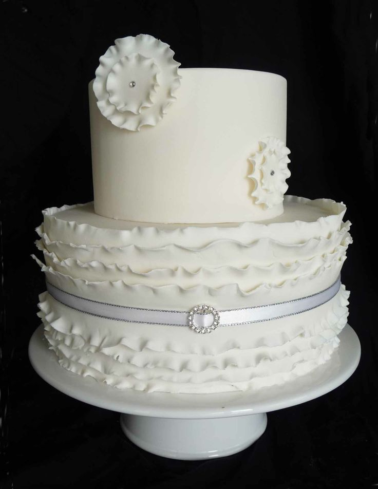 how to make a fondant ruffle wedding cake 22 best cakes ruffles fondant images on 15813