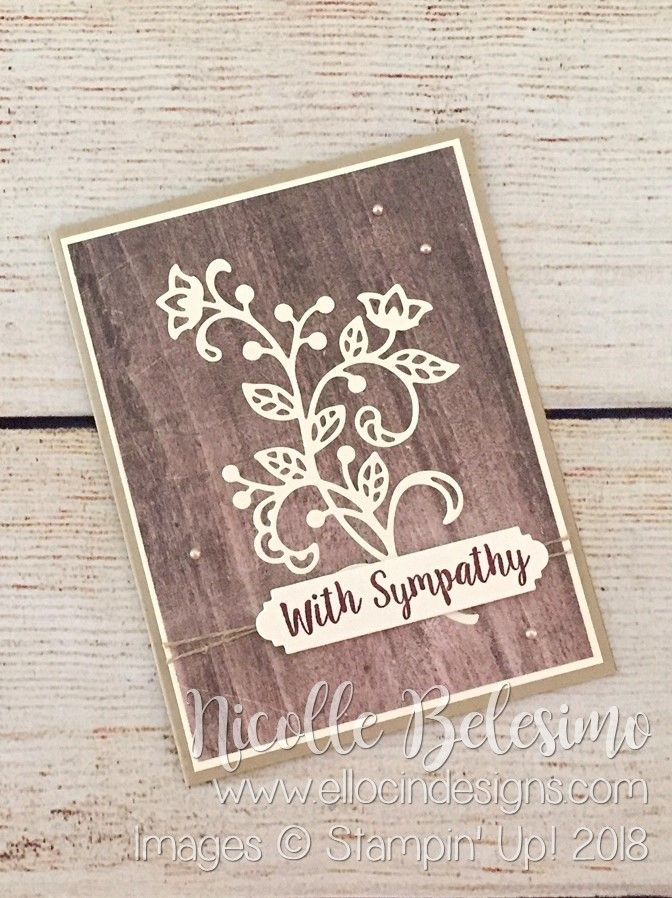 Ellocin Designs – Nicolle Belesimo, Independent Stampin' Up! Demonstrator