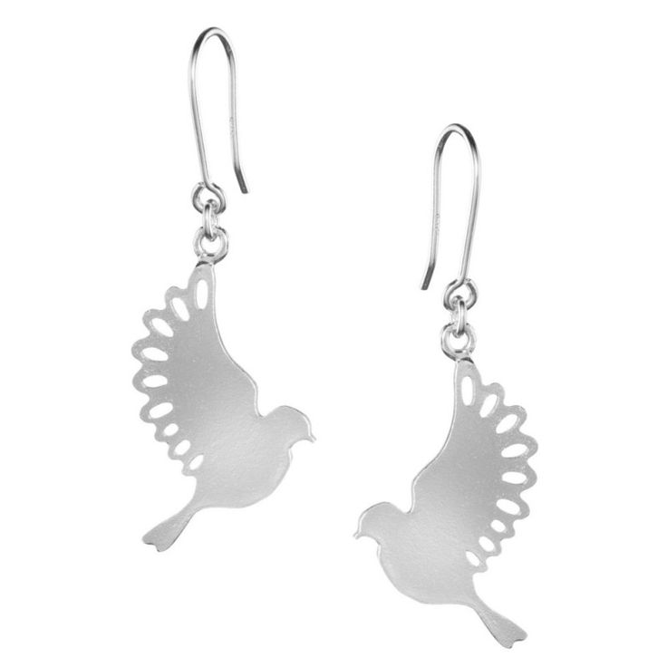 Lumoava Satakieli korvakorut // Silver Bird earrings