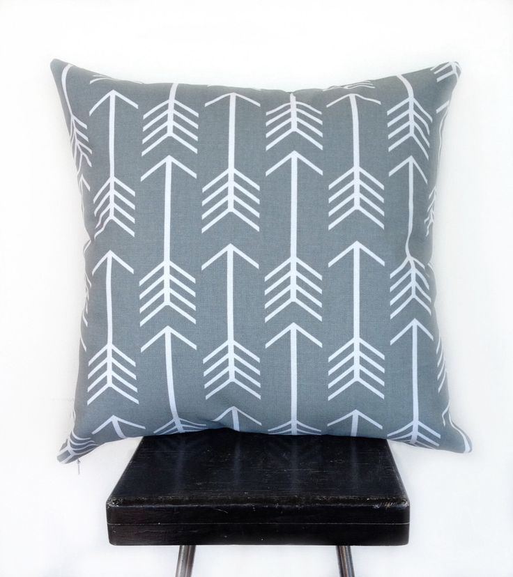 Grey and White Arrow Geometric Cushion Cover by blackeyedsusie on Etsy https://www.etsy.com/listing/208047279/grey-and-white-arrow-geometric-cushion