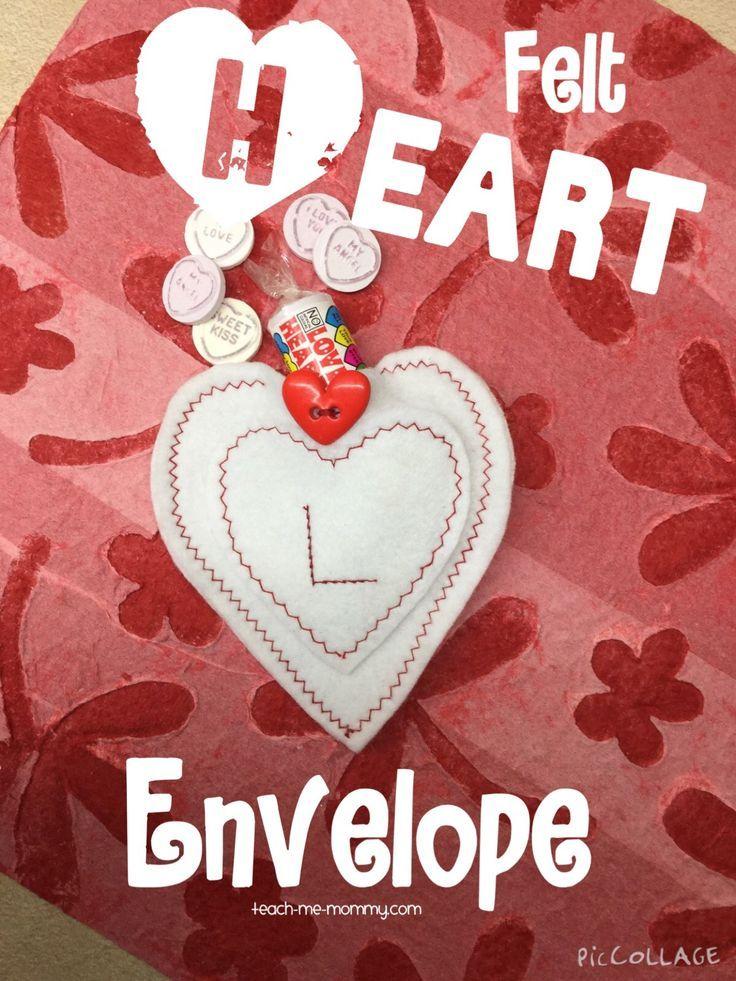 Felt Heart Envelope. Make a reusable envelope from felt for your little love!