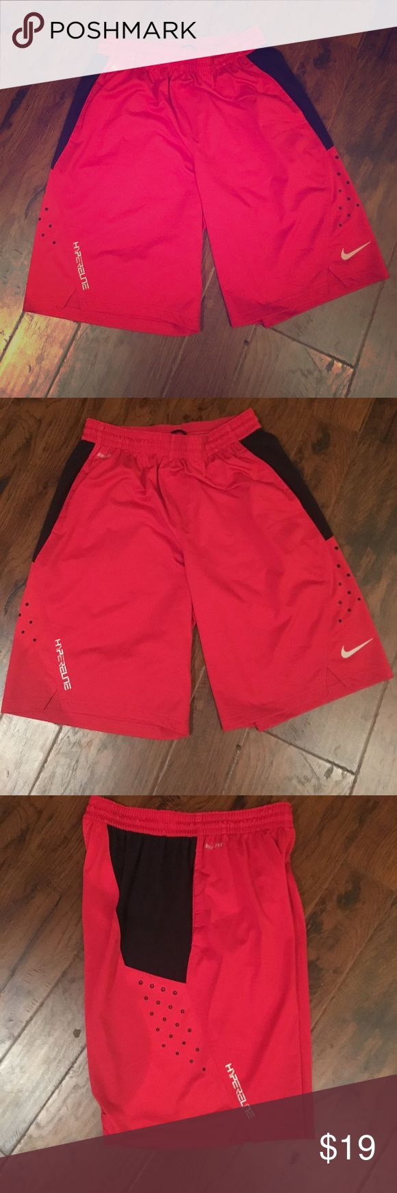Men's Nike Dri-Fit Shorts Men's Nike Dri-Fit Shorts , red with black accents, Size L. Draw string, almost new condition. Nike Shorts Athletic