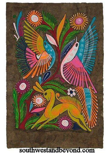 Bark Paintings, Papel Amate, Mexican Folk Art