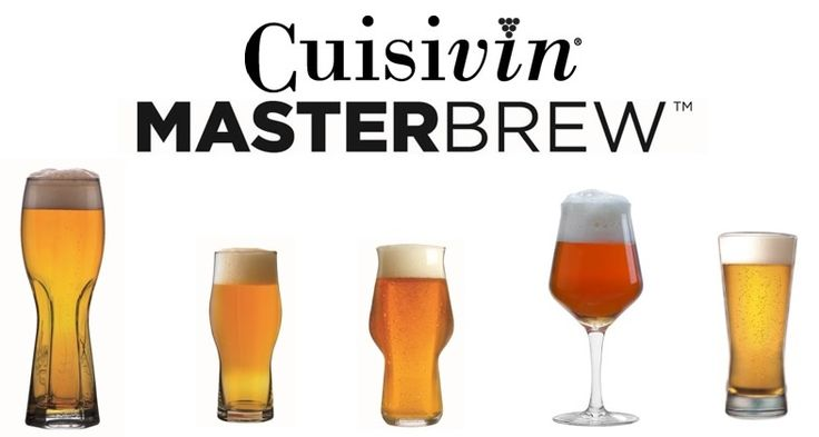 Cuisivin Craft Beer Glasware - MasterBREW - available for branding