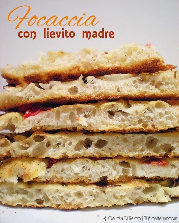 My Ricettarium: Focaccia con lievito madre (impasto in ciotola)