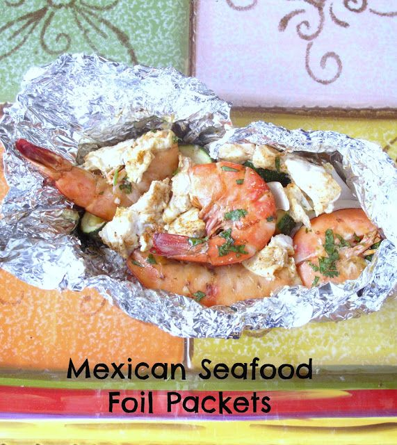 Simply Healthy Family: Mexican Seafood Foil Packets #WeekdaySupper