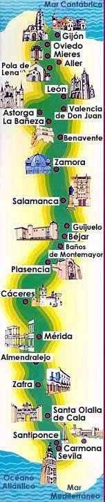"""El blog de """"Acebedo"""": La Ruta de la Plata (Gijón-Sevilla)"""