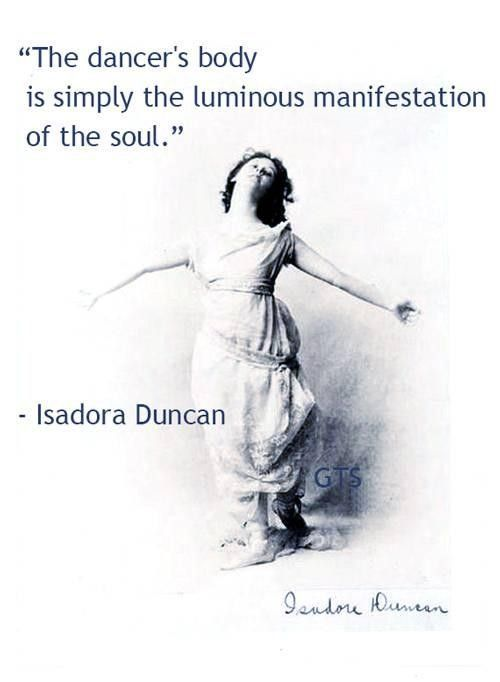 Isadora duncan quotes about dance