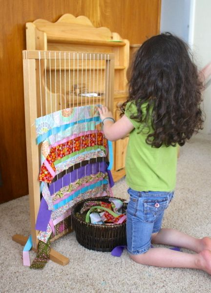 Weaving with Kids/ as of 8/12/13 I could not locate this type loom at Discount School Supply as stated on her site or on the web but I will keep looking as I think this would be a great addition to our classroom.