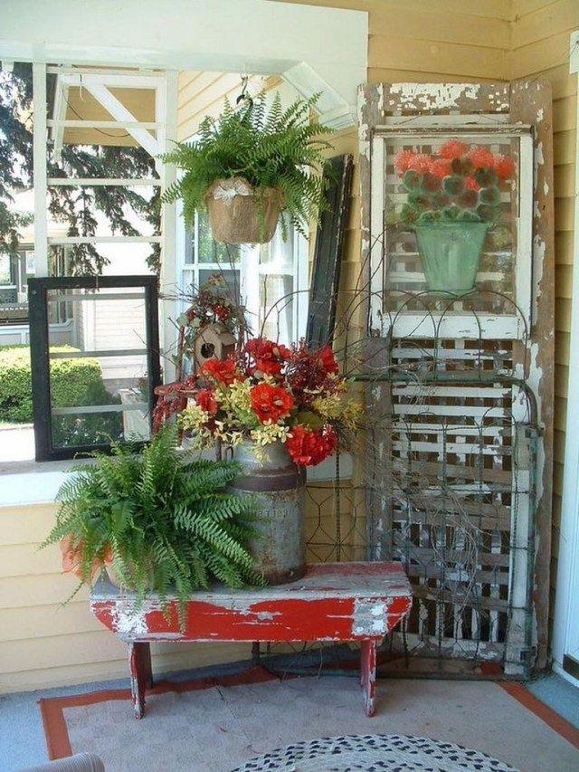 56 beautiful rustic farmhouse style porch decorating ideas rustic rh pinterest com