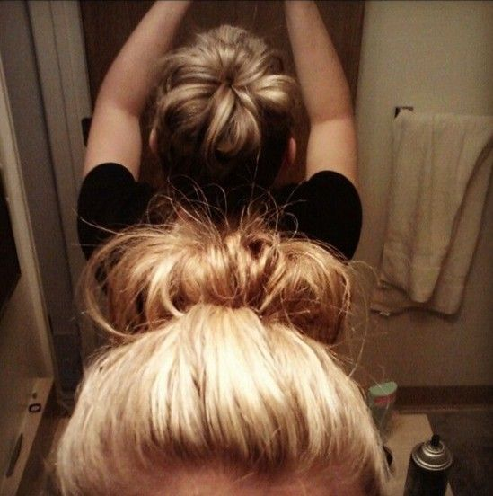 You can use a foam ring that they make for buns, or really use a sock!  Updo Hairstyles for Short Hair: Fun Sock Bun