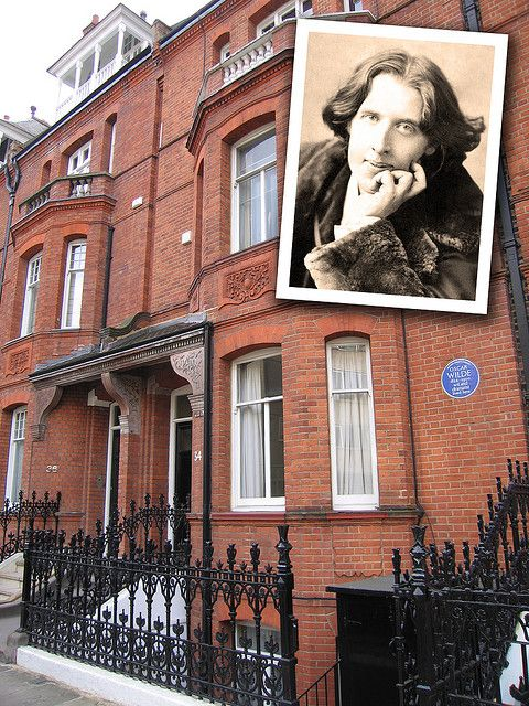 House of Oscar Wilde at Tite Street, Chelsea, London, by pablo.sanchez, via Flickr, complete with Blue Plaque
