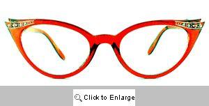 Fete Jeweled Cat Eye Glasses - 539 Cherry