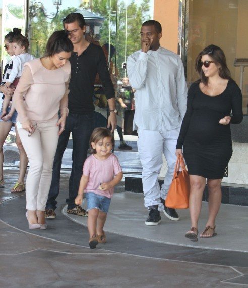 Kim Kardashian Kanye West Scott Mason Disick Pregnant Kourtney Movie Lunch Date at Calabasas Commons New Hip Hop Beats Uploaded EVERY SINGLE DAY  http://www.kidDyno.com