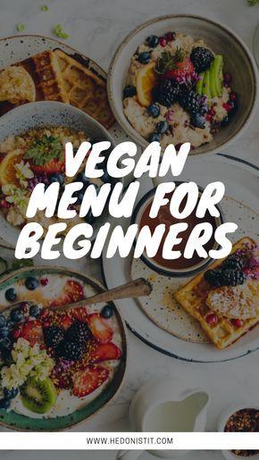 Vegan Menu for Beginners