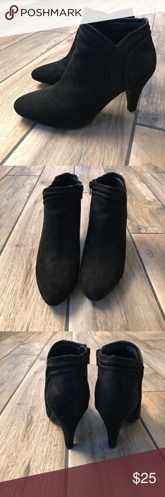 Naf Naf Black Booties. Size 38 (7.5). Naf Naf Black Booties. Size 38 (7.5). Only worn twice, wonderful shape! Naf Naf Shoes Ankle Boots & Booties