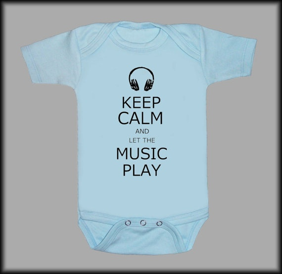 """Keep calm and let the music play."": Amanda Baby,  T-Shirt, Cody Baby,  Tees Shirts, Baby Onesies, Baby Things, Baby Fashion, Baby Stuff, Baby Showers"