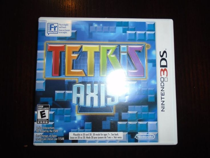 Nintendo 3 DSTetris AXIS Complete Box, Game, Booklet Bilingual game / booklet