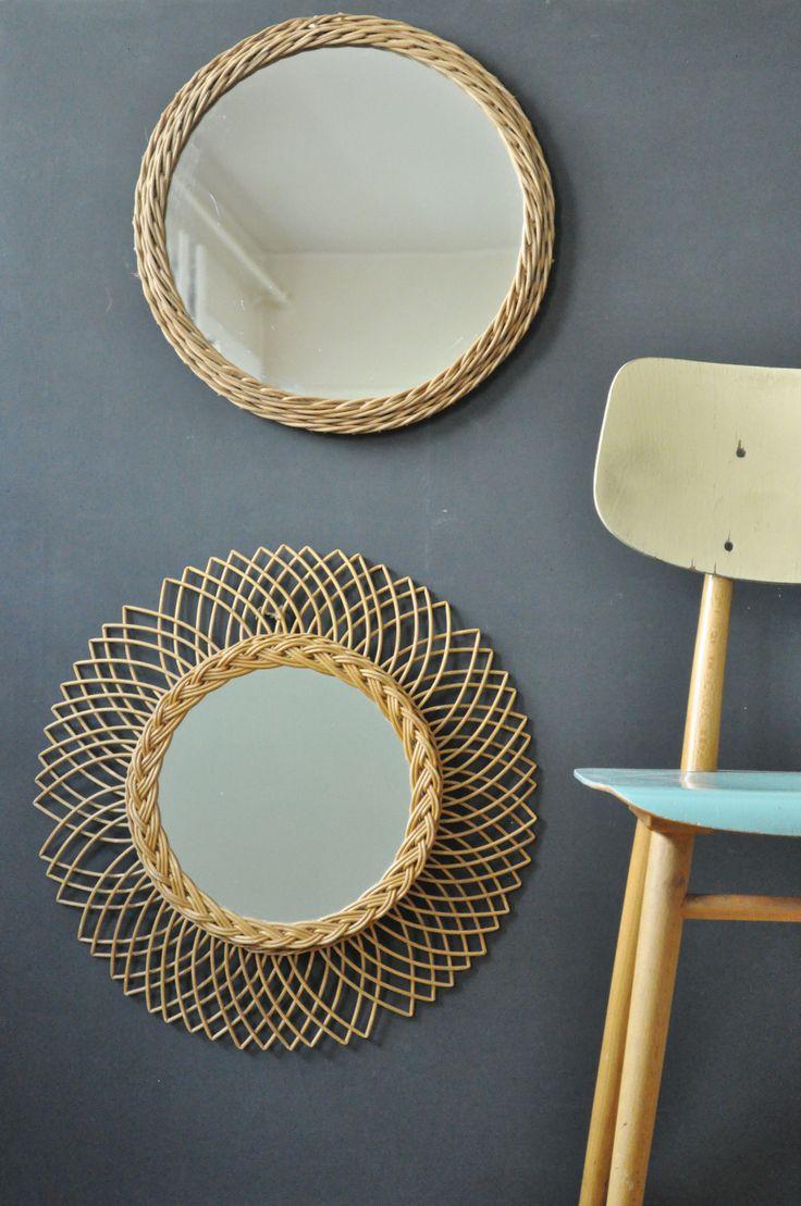 Les 25 meilleures id es de la cat gorie miroir de bambou for Miroir en osier