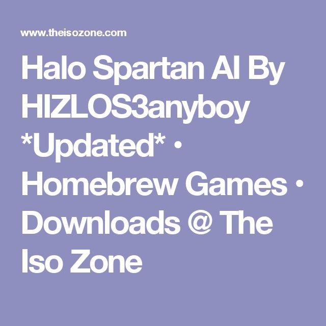 Halo Spartan AI By HIZLOS3anyboy *Updated* • Homebrew Games • Downloads @ The Iso Zone