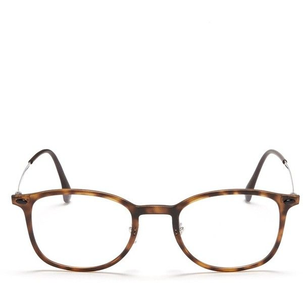 Ray-Ban 'RB7051 Light Ray' titanium temple round optical glasses (16.570 RUB) ❤ liked on Polyvore featuring accessories, eyewear, eyeglasses, brown, ray-ban, titanium eyeglasses, titanium glasses, round eyeglasses and ray ban eyeglasses