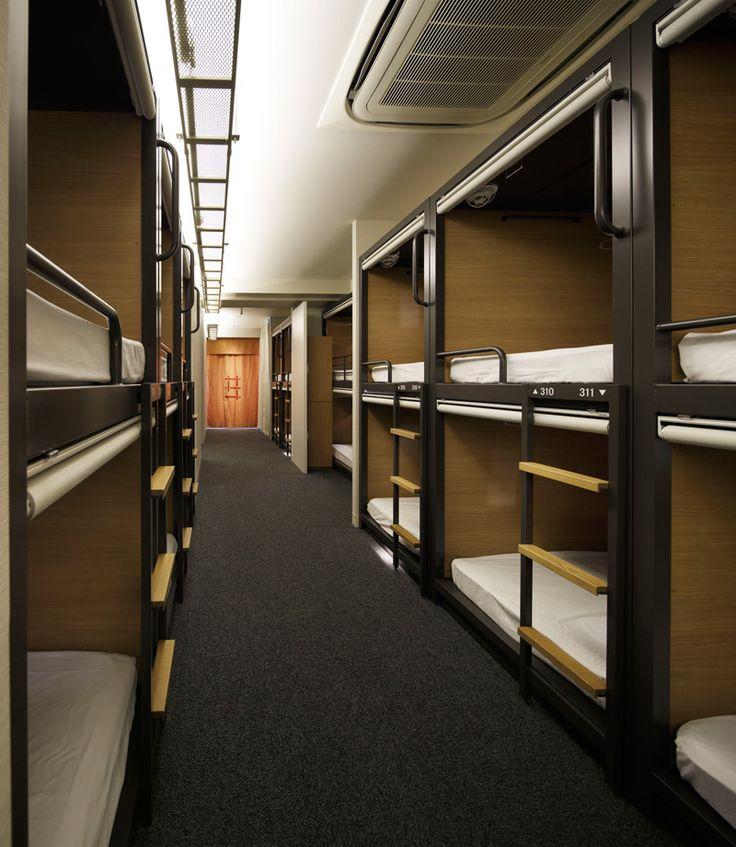 Uds design the grids hostel in tokyo travel pinterest for Hostel design