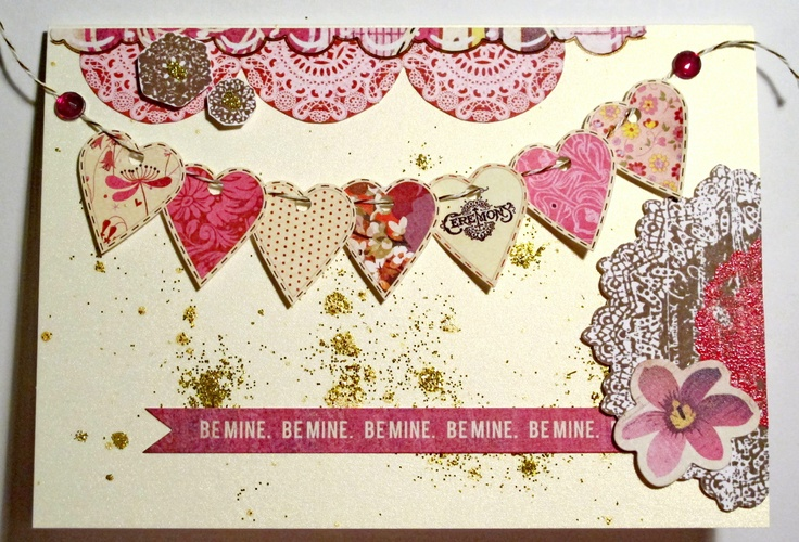 valentine's day garland craft